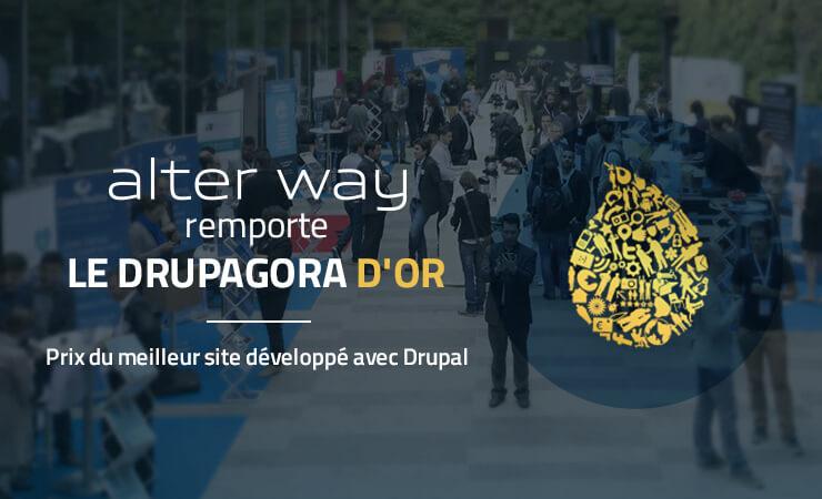 alter way remporte le drupagora d'or, prix du meilleur site développé avec Drupal
