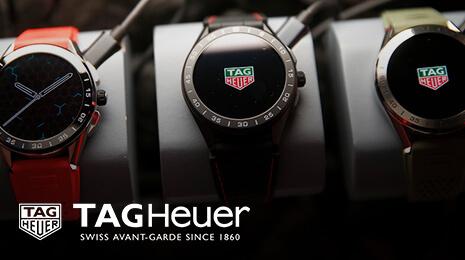 visuel Tag Heuer : 3 montres alignées