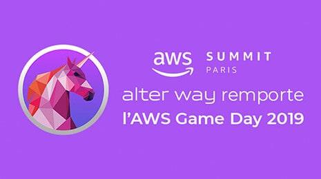 aws summit paris - alter way remporte l'AWS Game day 2019