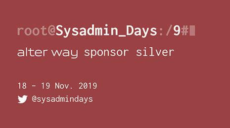 Sysadmin days 18 19 novembre