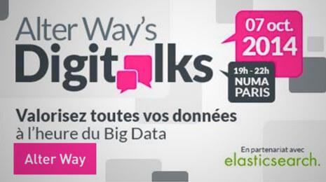 Alter Way's valorisez toutes vos données à l'heure du big data 7 octobre 2014