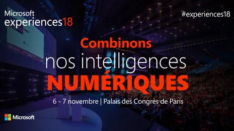 Combinons nos intelligences numériques microsoft experiences 18
