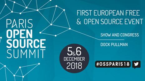 Paris Open Source Summit 5 et 6 décembre first european free & open source event