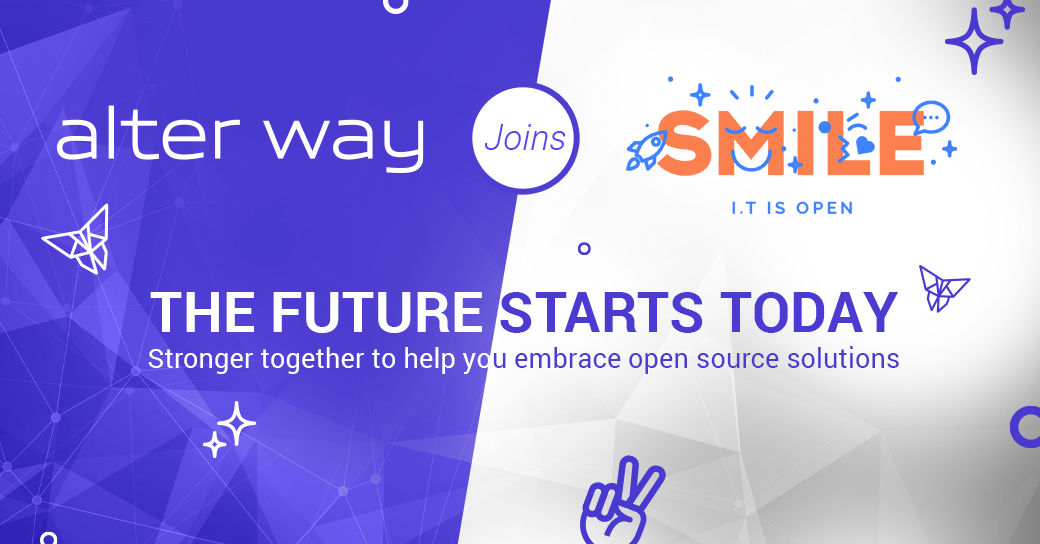 alter way joins smile the future starts today stronger together to help you embrace open source solutions